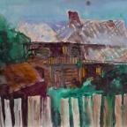 Haus mit altem Bretterzaun - 1