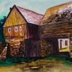 Haus mit Stützmauer - 2