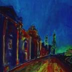 Brühlsche Terrasse bei Nacht - x