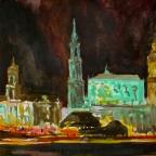 Dresdner Panorama bei Nacht - 2