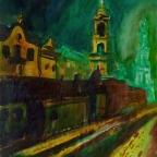 Brühlsche Terrasse bei Nacht - 1