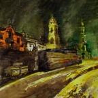 Brühlsche Terrasse bei Nacht - 2
