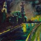 Brühlsche Terrasse bei Nacht - 3