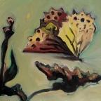 Kaisermantel landet auf einer Blühte