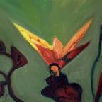 Roter Dickkopffalter auf einer Blume